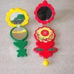 Spille Specchietti rosso e giallo aperti